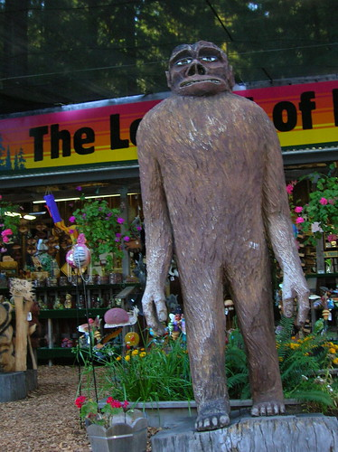 Big foot aka sasquatch this particular chainsaw carving