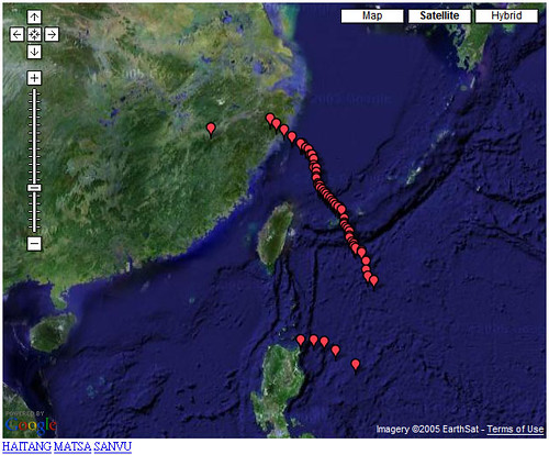Historical Paths of Typhoons around Taiwan (2005) | by .CK