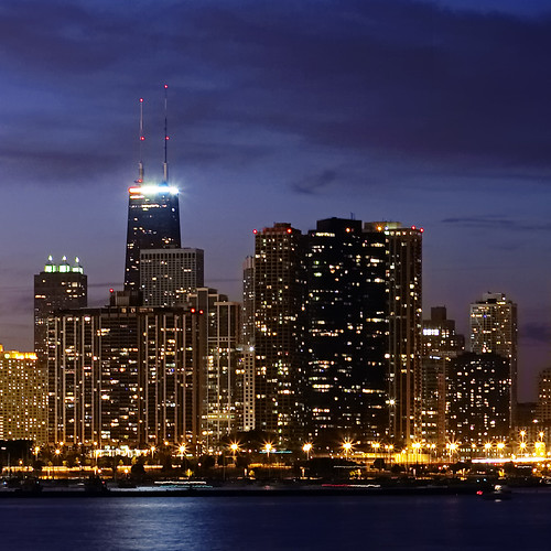 chicago skyline after sunset | by The New No. 2