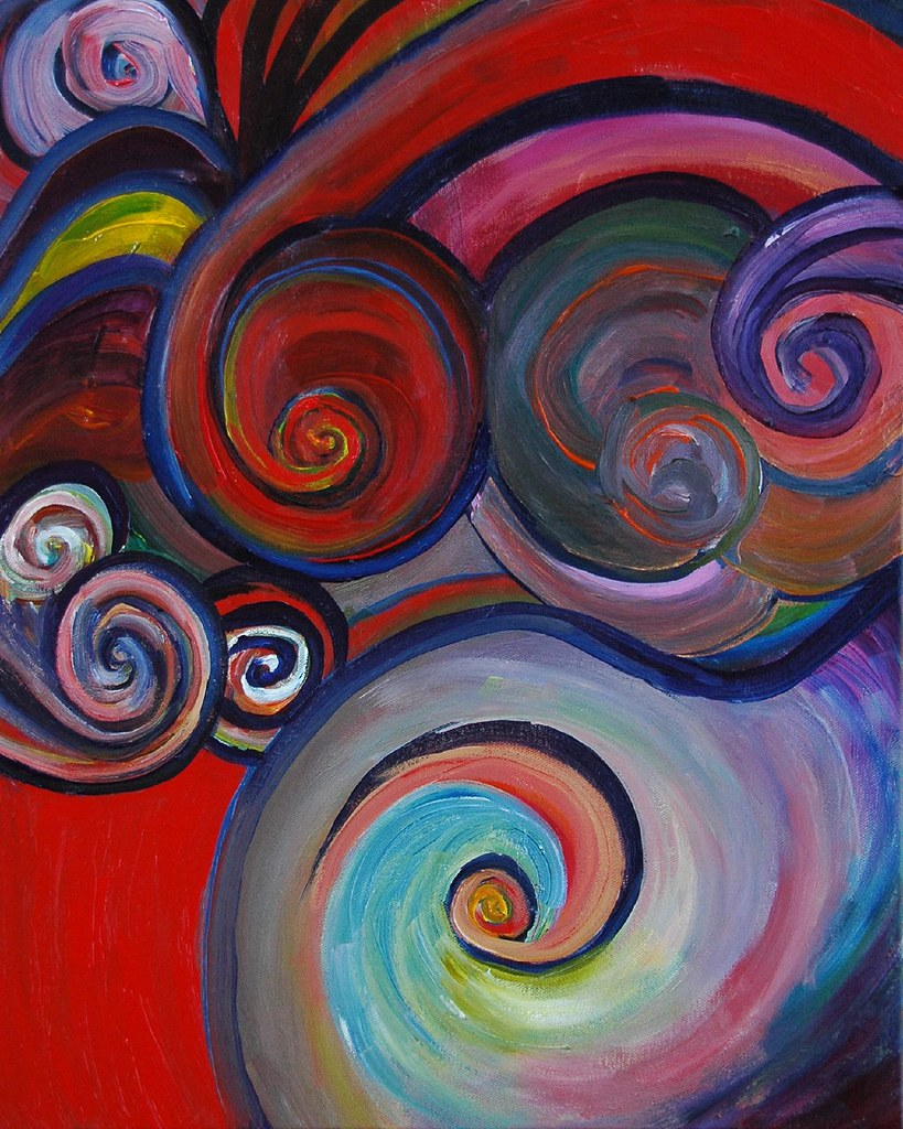 Abstract family olga liked the group abstracts that for Easy to do abstract paintings