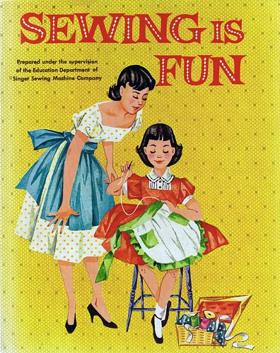Book Cover Sewing Room : Sewing is fun copyright by the singer