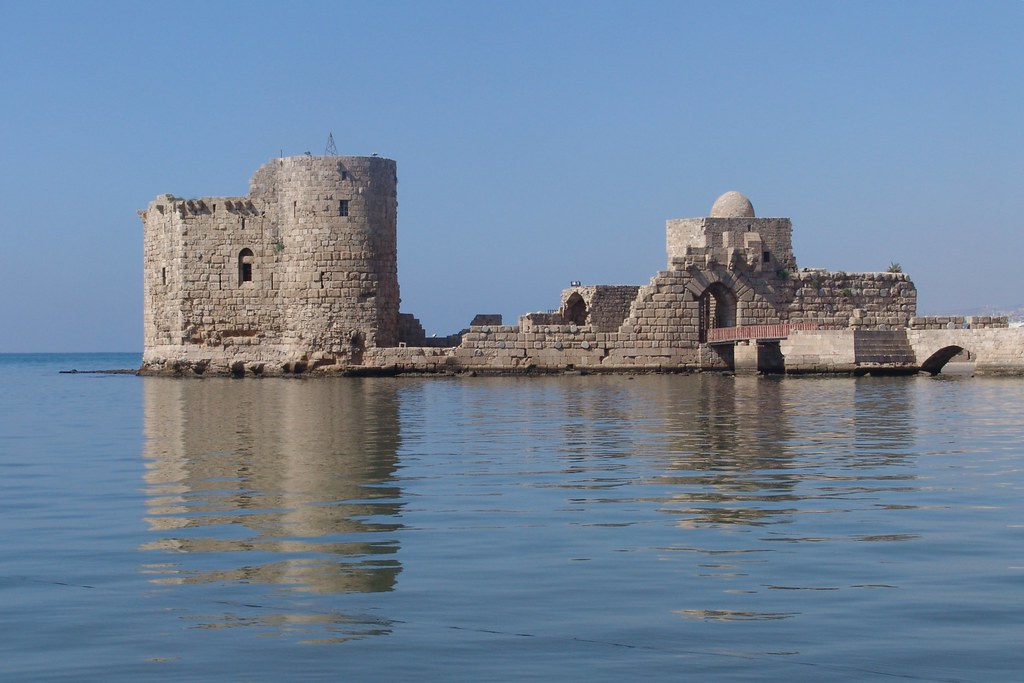 Lebanon - Crusader castle, Sidon  There is a website ...