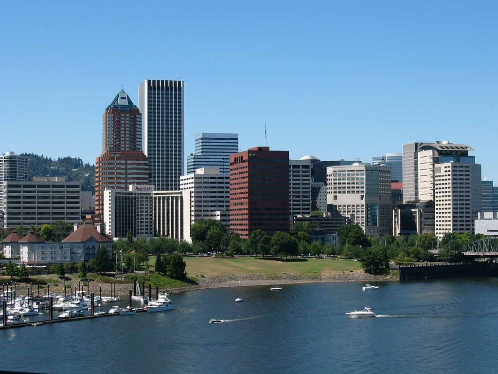 Portland skyline part of the portland skyline as seen - Camera world portland ...