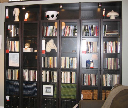 Ikea billy bookcase we love the glass doors - Mobile billy ikea ...