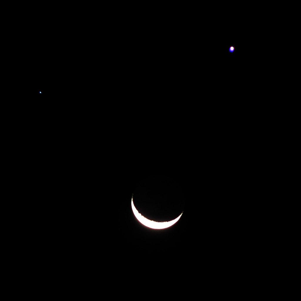 Moon, Venus, Spica (7 Sep 05) | best viewed large to see ...