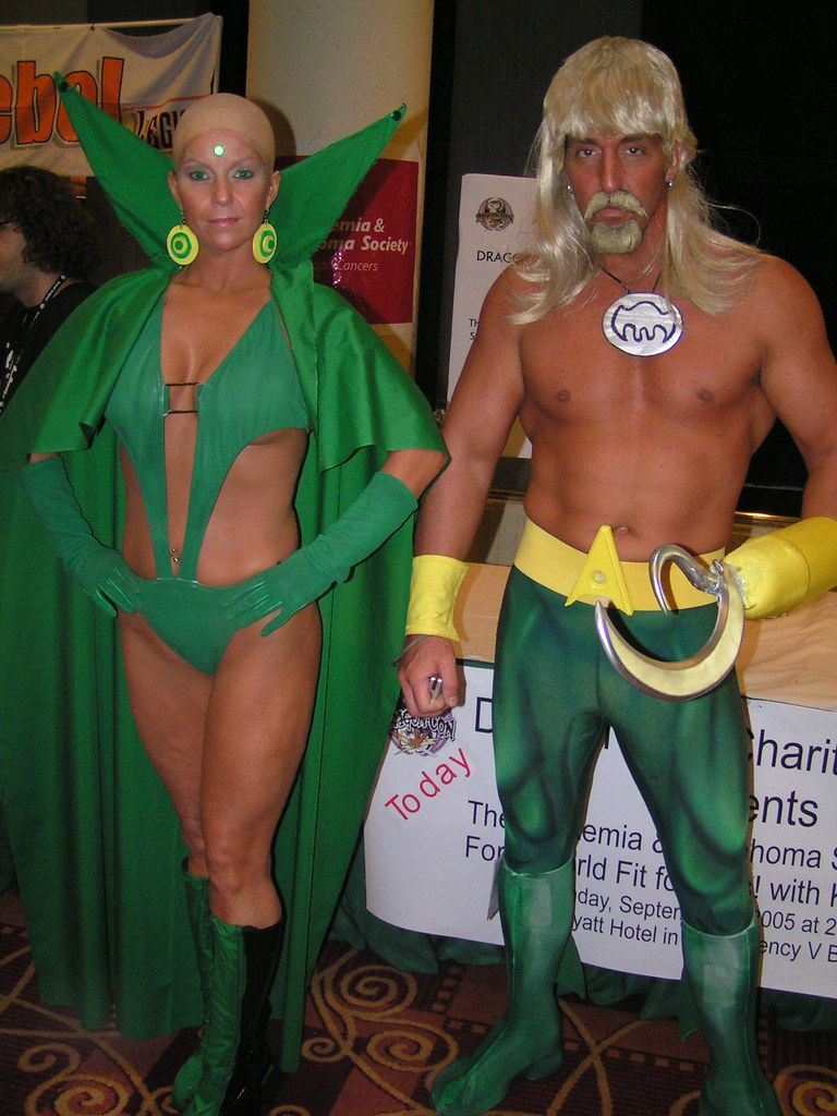 Moondragon And Aquaman Sjmck Flickr