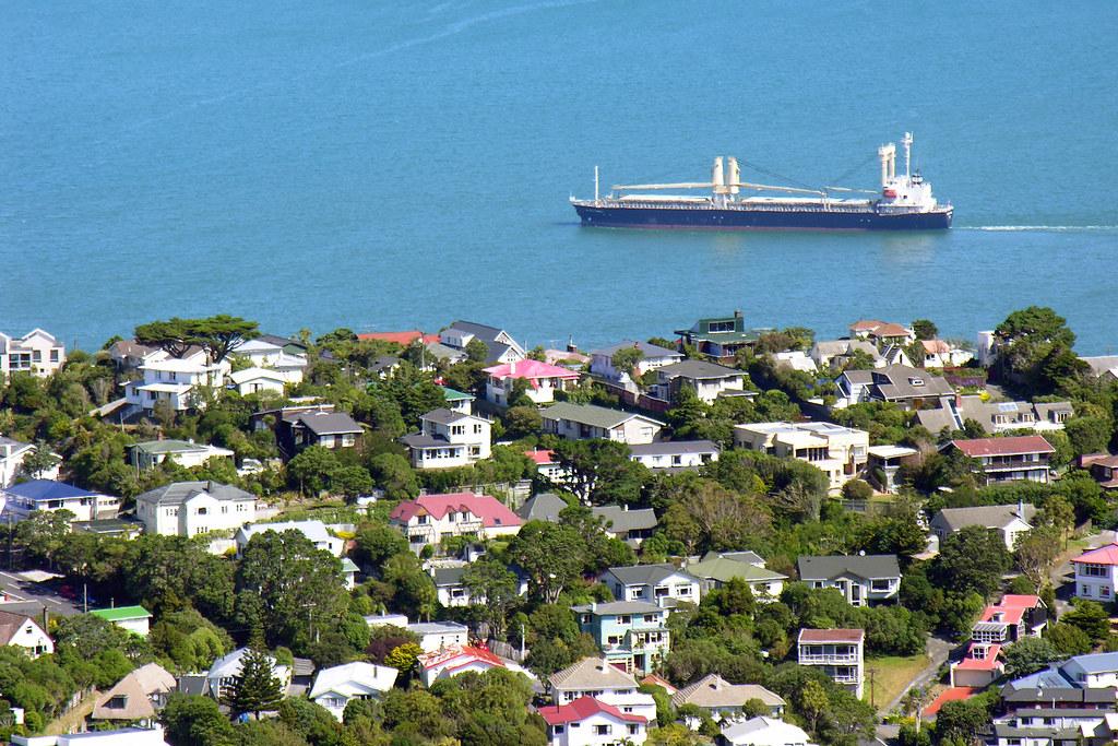 Ship And Houses Khandallah Wellington New Zealand 20 J