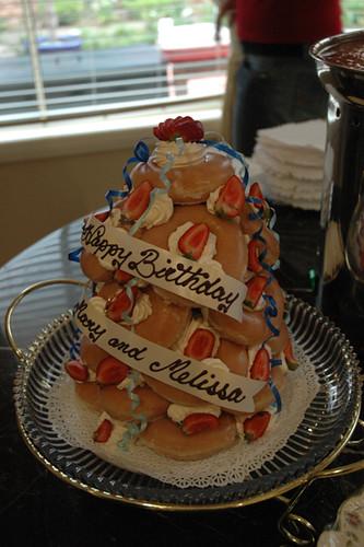 Free Birthday Krispy Kreme ~ Krispy kreme cake my awesome best ever mel flickr