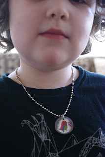Shrinky dink necklace | by poopscape
