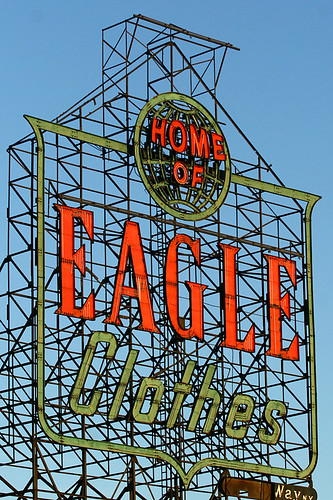 eagle clothes sign | by kinworks
