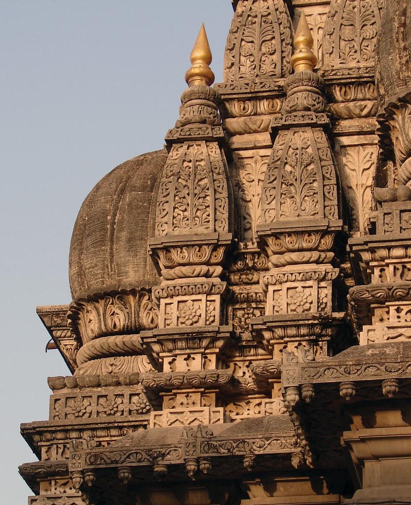 Beautiful stone carvings on a temple mahadji shinde