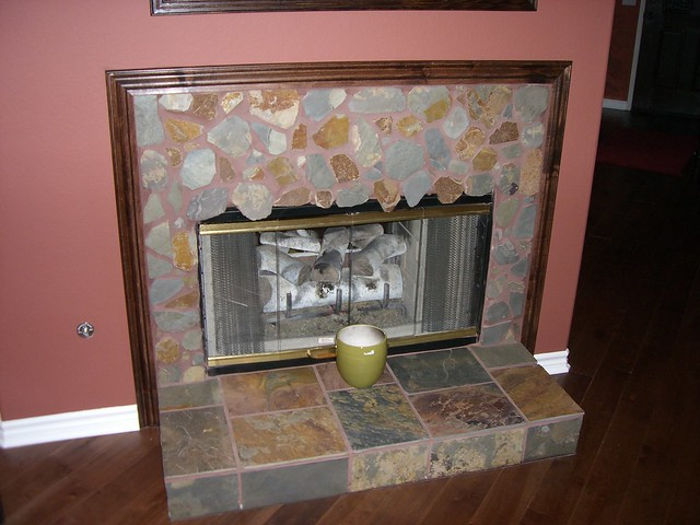 Slate Fireplace With Trim To Match Floor Flickr Photo Sharing