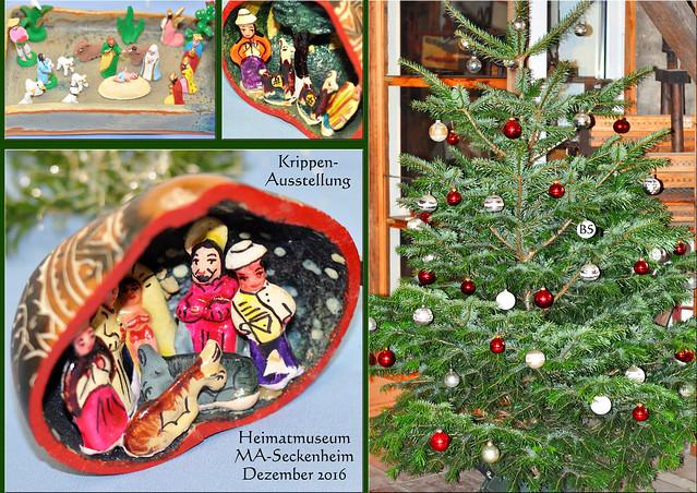Mannheim Seckenheim Heimatmuseum ... Sonderausstellung Adventsausstellung - Krippen aus aller Welt ... Miniaturkrippen ... Lateinamerika ... Fotos: Brigitte Stolle 2016