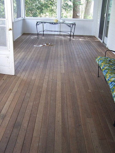 sunporch floor before | by notes from the trenches