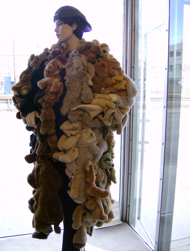 Teddy Bear Fur Coat | This coat made of teddy bears was on a… | Flickr