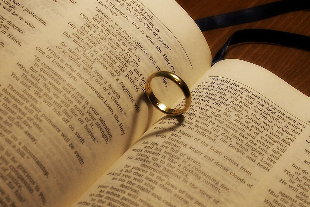 Wedding ring in Bible David Atkinson Flickr