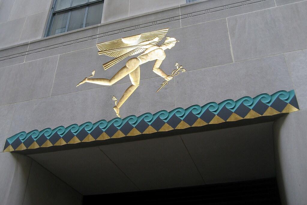 Nyc Rockefeller Center British Empire Building Winged