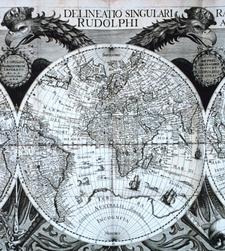 "Section of World Map in Johannes Kepler ""Tabulae Rudolphinae...,"" Archival Photo by S. Nicklas (NOAA) 