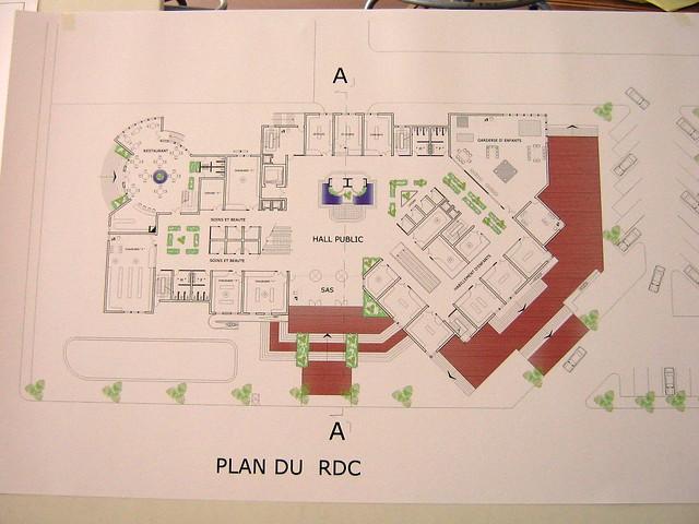 centre commercial plan du rez de chauss e works of. Black Bedroom Furniture Sets. Home Design Ideas