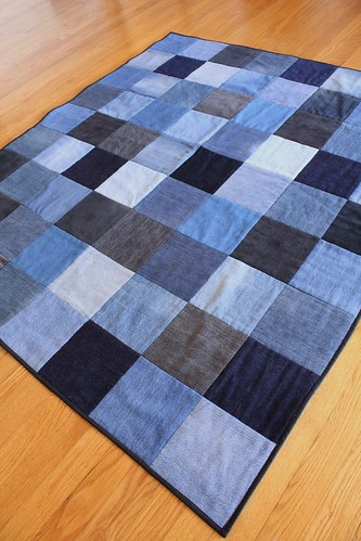Upcycled Denim Quilt on Etsy | by smithsoccasional