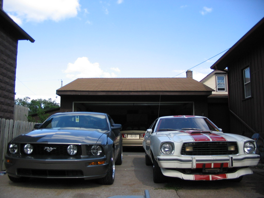 2005 mustang gt 1977 mustang cobra ii by qcphotopro