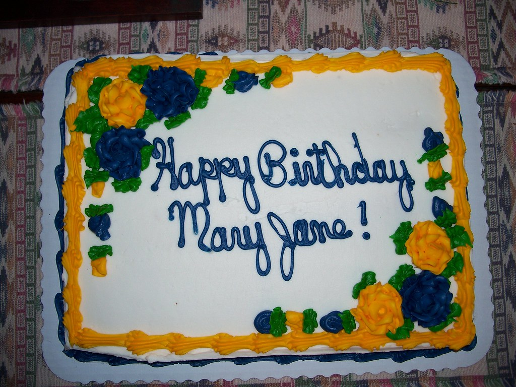 Aunt Mary Janes Birthday Cake It Was Her 80th Birthday Flickr