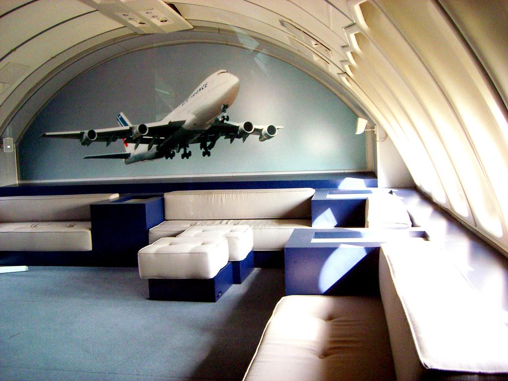 747 Upper Deck Lounge Le Bourget Mus 233 E De L Air Et De L