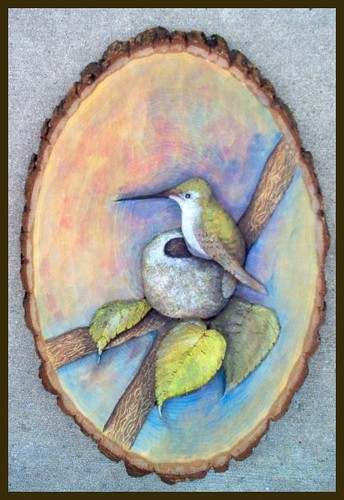 Relief wood carving hummingbird deb bergum flickr