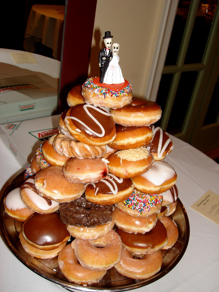 The Krispy Kreme Wedding Cake The Krispy Kreme Wedding
