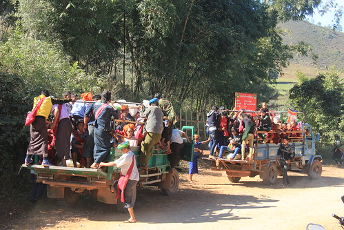 Local transport, Kalaw to Inle Lake trek