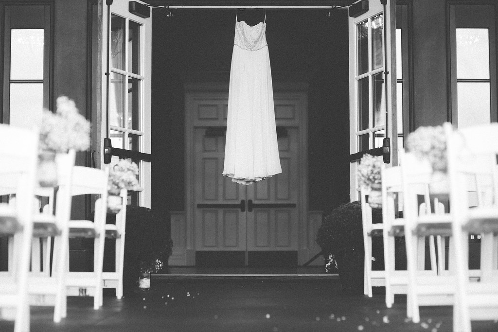 Bryce Lafoon Photography l Hanging Wedding Dress