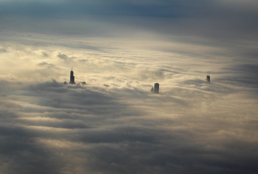 Above The Clouds This Is The Chicago Skyline As Seen