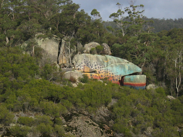 Rock painted to look like a fish outside derby this for Fish that looks like a rock