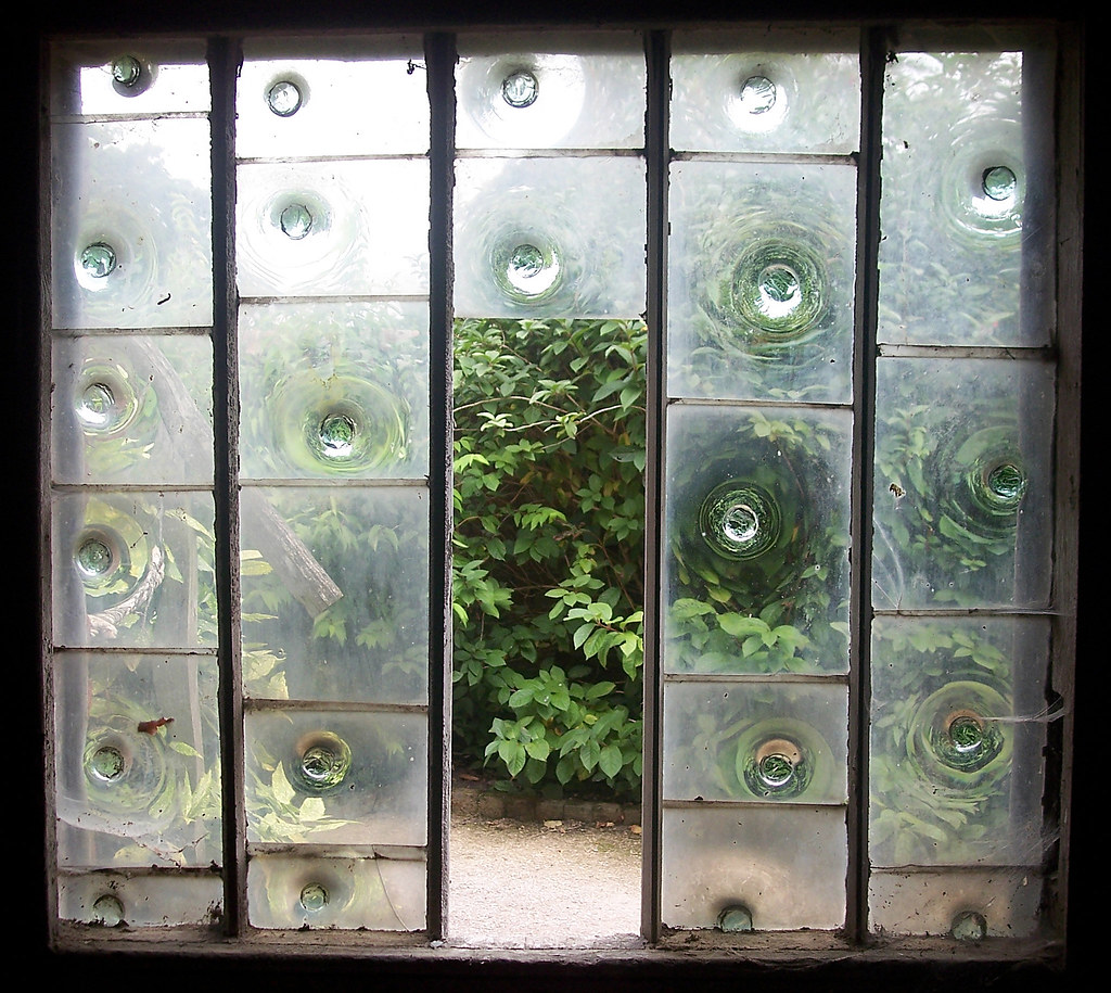 Bullseye glass window | In the garden buildings at Calke ...