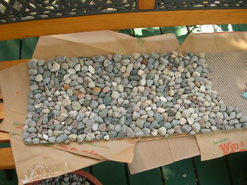 River rock fireplace mat dumb idea betsy weber flickr for River stone doormat