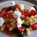 Mediterranean-style bean salad