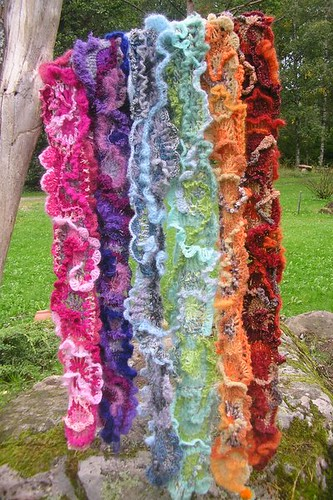 Freeform crochet scarves | by MarianneS
