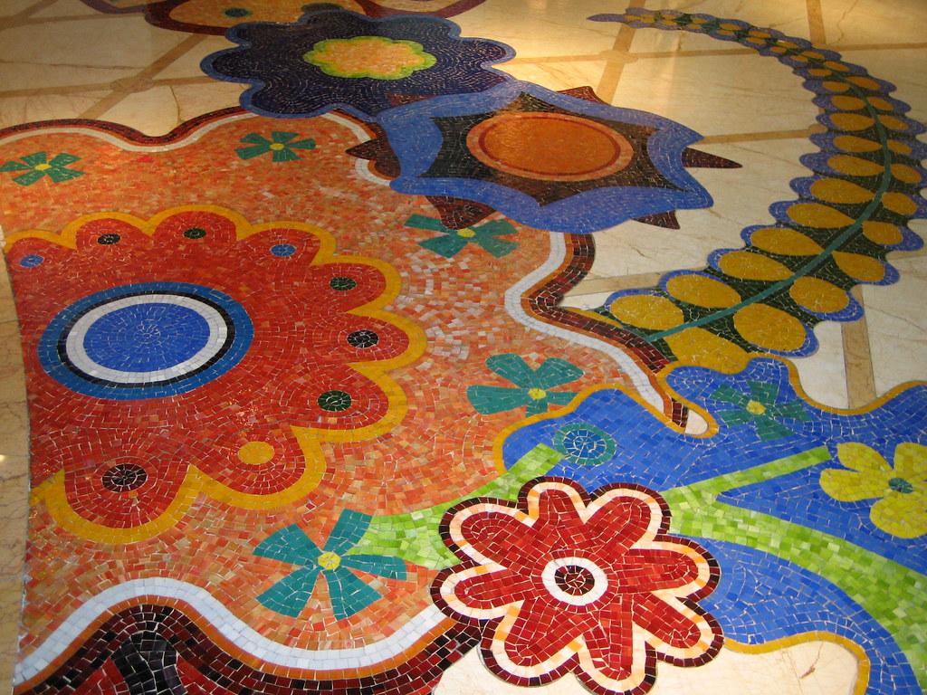 Flower Mosaic Mosaic Floor In The Wynn Hotel Las Vegas