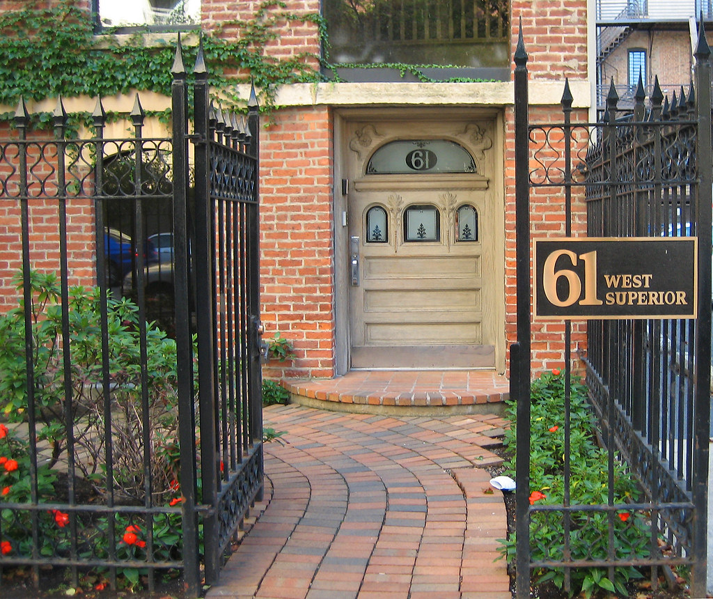 Portal 61 West Superior Contemporary Wrought Iron Fence