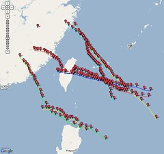 Typhoon Paths of 2005 | by .CK