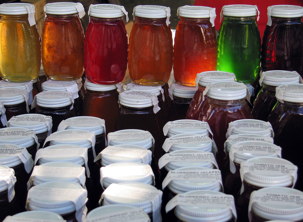 jelly jars jars of jelly for sale at the madison farmers. Black Bedroom Furniture Sets. Home Design Ideas