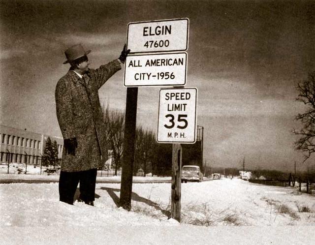 Elgin, Illinois 1956 | I found this photo on the Internet ...
