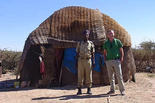 Charles With Guard Outside Traditional Somali House Flickr