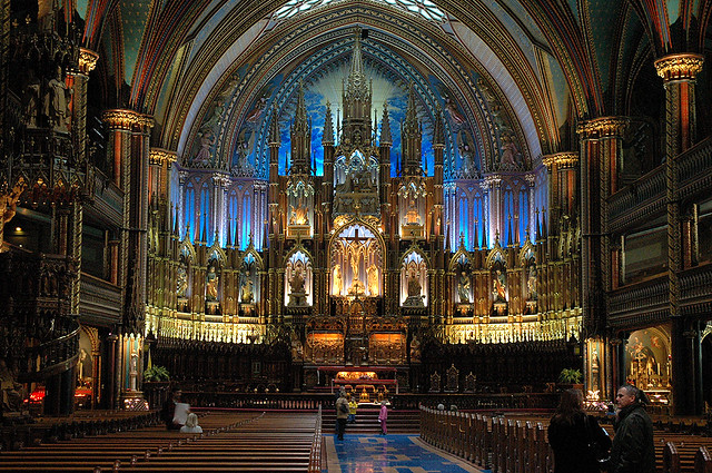 Basilique Notre-Dame | In Old Montreal - quite a beautiful ...