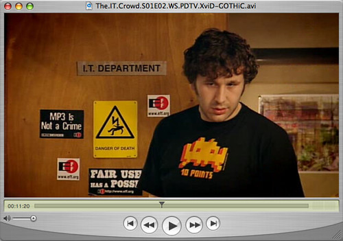 eff stickers in the it crowd channel 4 s new show about flickr