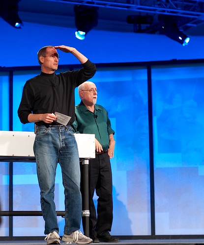 Steve Jobs and Walt Mossberg | by Joi