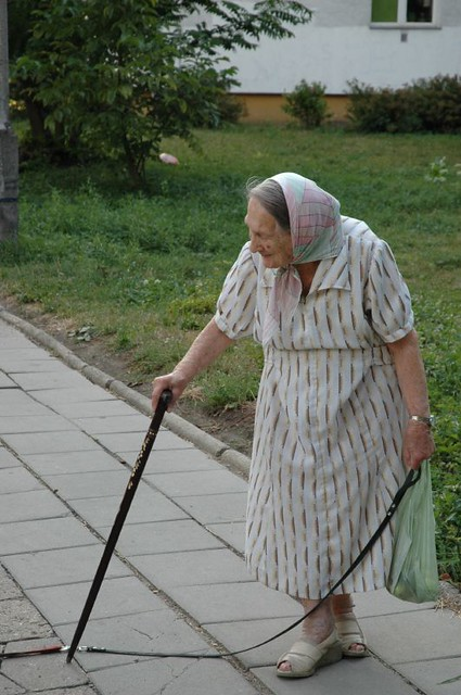 Old polish woman
