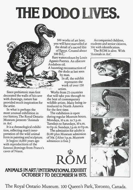 Vintage Ad #241: The Dodo Lives at the ROM