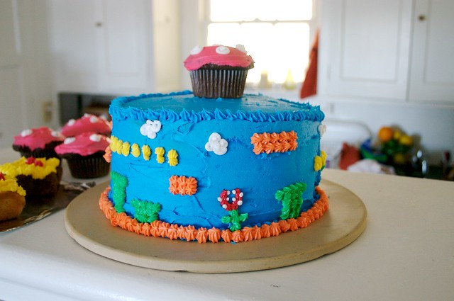 Super Mario Bros Birthday Cake This beautiful and delici Flickr