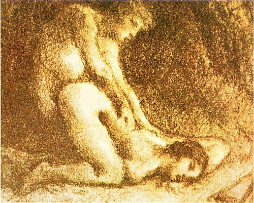 ジャン・フランソワ・ミレー 『恋人たち』 1852年頃